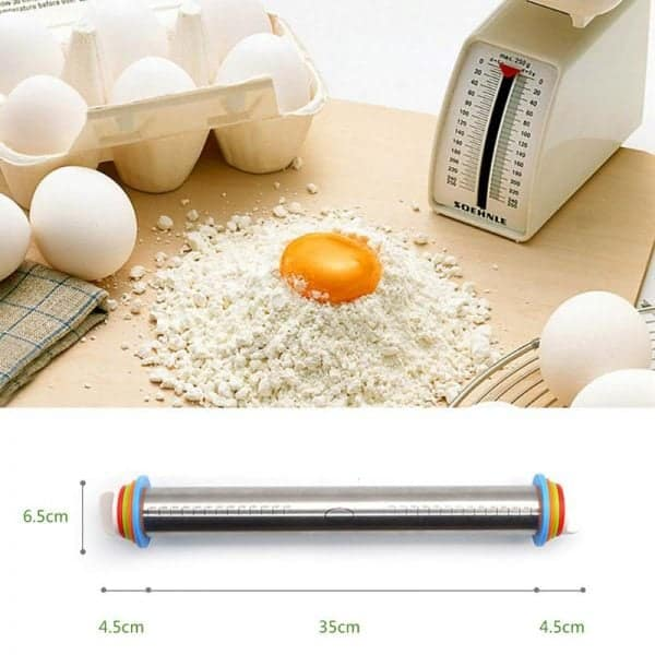 Adjustable Rolling Pin – Stainless Steel