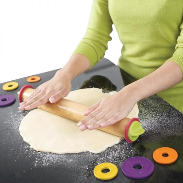 Adjustable Wooden Non-stick Rolling Pin