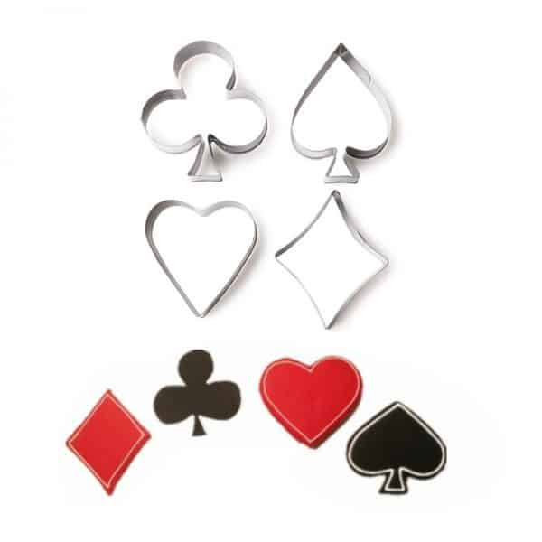 Playing Cards Cookie Stainless Steel Mold 4Pcs Set