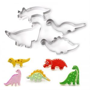 Dinosaur Cookie Molds  4Pcs Set