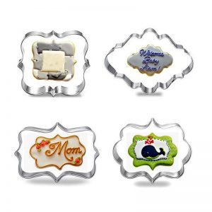 4 Pcs Photo Frame Cookie Mold