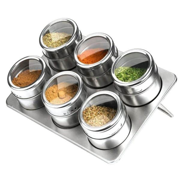 Magnetic Stainless Steel Spice Jars