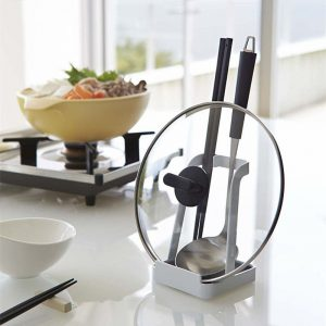 Stainless Steel Cover Lid & Ladle Rest Stand