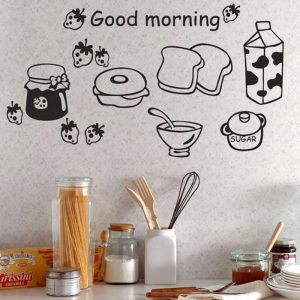 Milk Bread Wall Vinyl 23x58cm