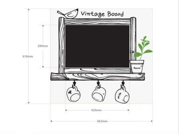 Kitchen Chalkboard Decal Waterproof Vinyl Wall art