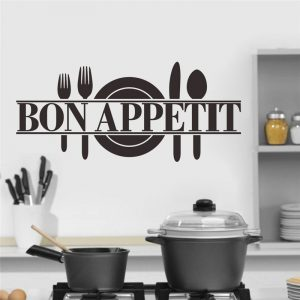 Bon Appetit Kitchen Decal 25x57cm