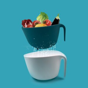Fruit & Vegetable Plastic Container and Colander