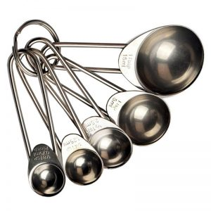 Stainless Steel Measuring Spoons 5Pcs/Set