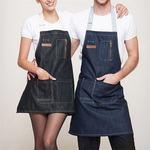 Woman & Men Denim Kitchen Apron