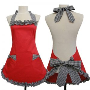 Halter Red & Black Cooking Apron