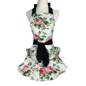 Floral Print Cooking Apron
