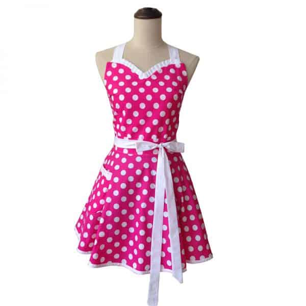 Sweetheart Polka Dot Retro Apron