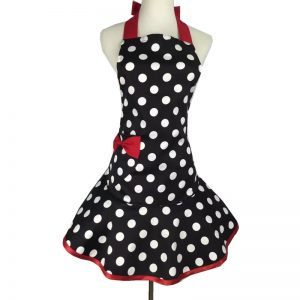 Simple Retro Polka Dot Cooking Apron