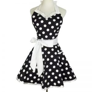 Black & White Retro Polka Dot Apron