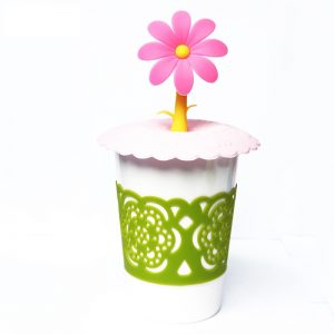 Cute Sunflower Silicone Cup Lid