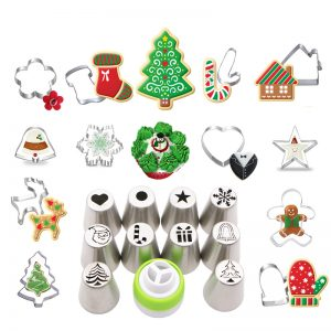 Christmas  Cookie Cutter & Icing Set 12 PCs