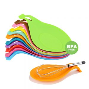 Silicone Heat Resistant Pot Spoon & Utensil Holder