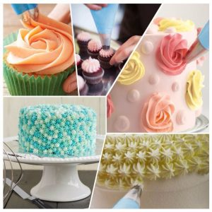 Silicone Icing Bag & Stainless Steel Nozzles- 27Pcs