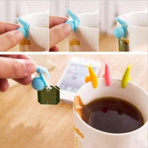 Silicone Snail Tea Bag Holder 5pcs