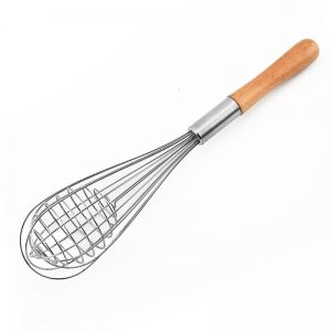 Stainless Steel Egg Whisk With Wood Handle