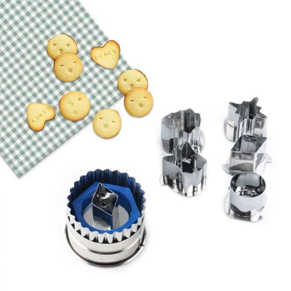 10PCS Stainless Steel Cookie & Fruits Cutter