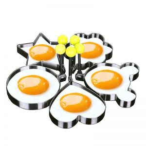 Egg & Pancake Stainless Steel Shaping Mold – 5pcs/set