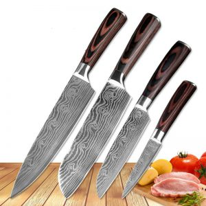 Chef Knives Imitation Damascus steel