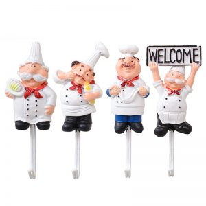 Cartoon Utensils Wall Hooks – 4Pcs/set