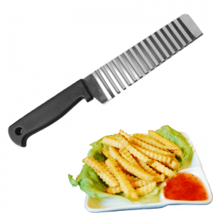 Stainless Steel Potato Wavy Edged Cutter Knife