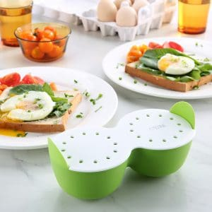 Silicone Egg Poacher With Side Handles