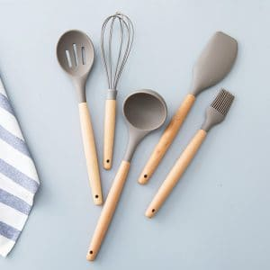 Utensils Set – Spoon Scraper Ladle Brush & Whisk