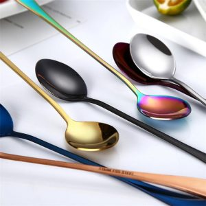 Stainless Steel Flowers Shaped Stirring Spoon