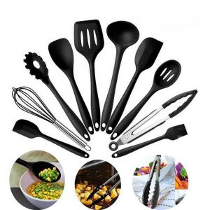 10 Pcs Silicone Kitchen Utensils Non-Stick Set