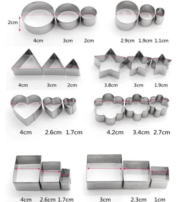 24Pcs/set Stainless Steel Cookie Cutters Shape