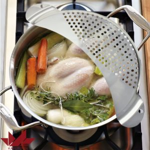 Stainless Steel Pan Pot Strainer