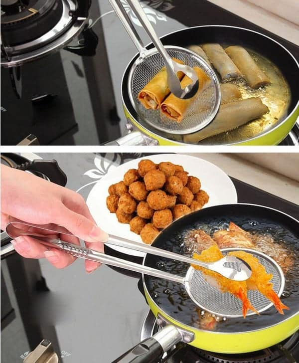 Filter Spoon Strainer With Clip