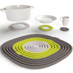 3 in 1 Heat Resistant Silicone Trivet Mats