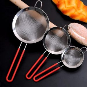 Stainless Steel Fine Mesh Strainer Silicone Handle