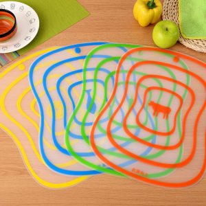 4Pcs Antibacterial Skidproof Chopping Board