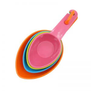 Colorful Baking Plastic Measuring Spoons 4 Pcs