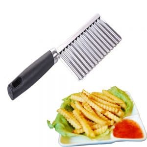 Stainless Steel Potato Wavy Edged Cutter Knife – 21.5X6cm