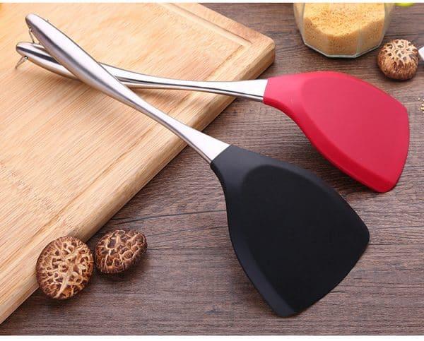 Stainless Steel & Silicone Cooking Spatula
