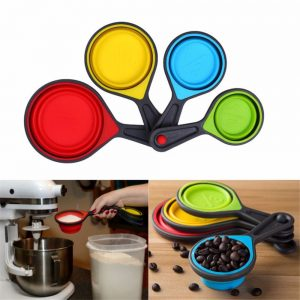 Silicone Measuring Cup along with Baking Tools