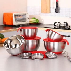 Stainless Steel Mixing Bowls With Silicone Base