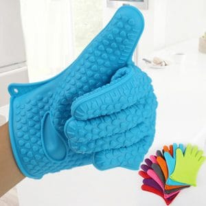Full Silicone Heat Resistance Gloves for Cooking
