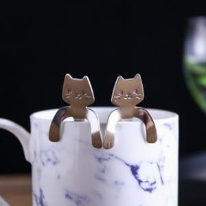 Cat Design Coffee Stirring Spoon