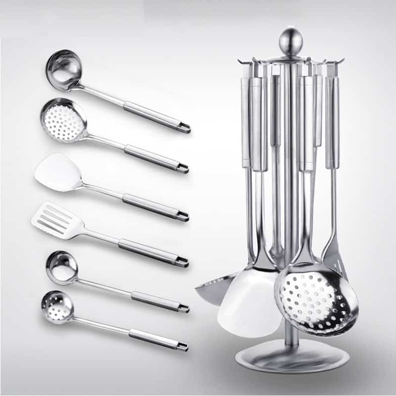 7 Pcs/Set Stainless Steel Cooking Utensils
