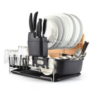 Modern 2 Tier Kitchen Dish Rack