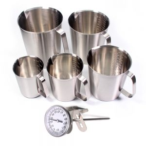 Stainless Steel Measuring Cup with Thermometer