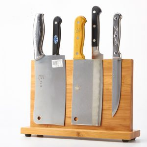 Anti-Bacterial Magnetic Knife Bamboo Holder